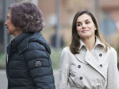 Queen Letizia and Sofía appear in public on Friday in a bid to ease rumors of a family feud.