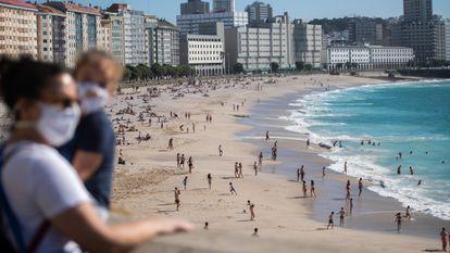 Riazor beach in A Coruña, Galicia, late last month.