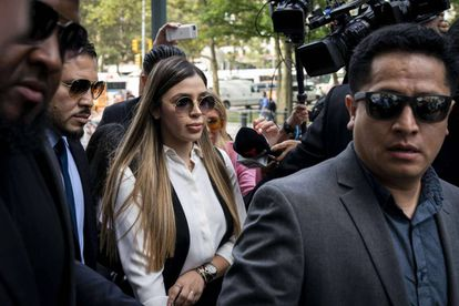 Emma Coronel arrives at the US district court in New York for the trial of her husband, Joaquín Guzmán Loera, in 2019.