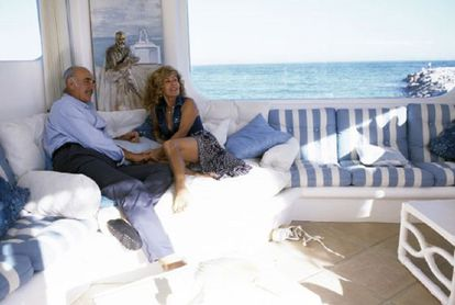 Sean Connery and his wife Micheline inside their Marbella home in 1995.