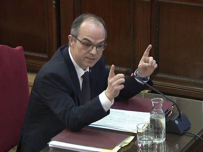 Jordi Turull in the Supreme Court on Tuesday.