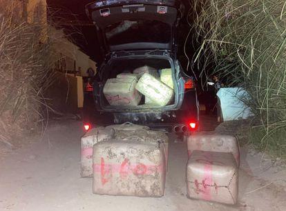 Drugs seized in a Civil Guard raid in Estepona