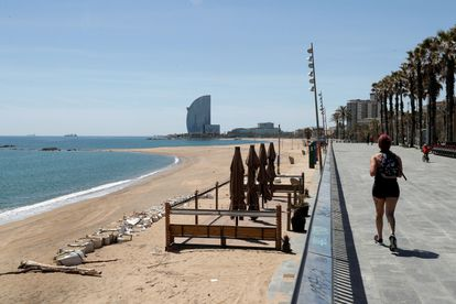 The beach in Barcelona, a city that has been left out of Catalonia's request for partial application of Phase 1.