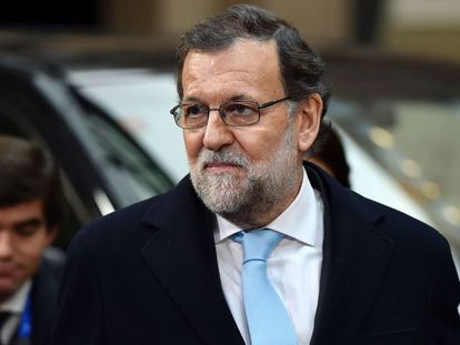 Acting Prime Minister Mariano Rajoy at the European Council meeting of March 7.