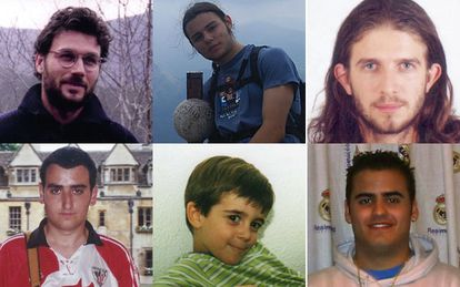 Clockwise from top left: Santi, Enaitz, José Manuel, Miguel Ángel, Pablo and Jonathan.