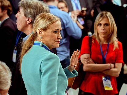 Cristina Cifuentes at a PP national convention.