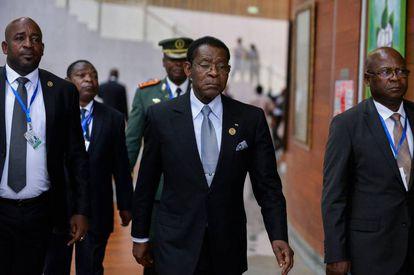 President of Equatorial Guinea Teodoro Obiang Nguema.