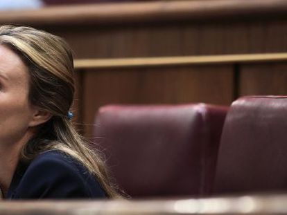 Andrea Fabra, pictured in Congress on Tuesday.