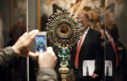 The monstrance from the Church of St Ignatius in Bogotá, on display at the Prado.