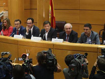 The PSOE interim management team in Congress.