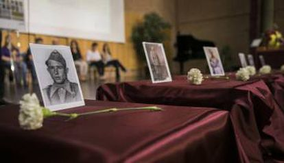 Bodies exhumed by the Association for the Recovery of Historical Memory were handed over to relatives in May 2018.