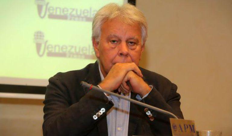 Former Spanish prime minister Felipe González in Madrid on Thursday.