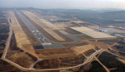 An aerial view of Castellón airport.