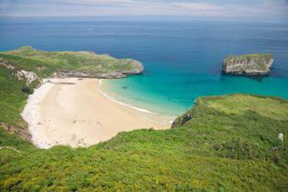 Ballota beach, in Llanes (Asturias).