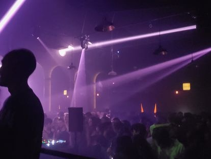 A packed floor at an underground club in Colonia Juárez, in downtown Mexico City.
