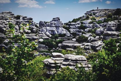 This amazing landscape near the town of Antequera used to be underwater 200 million years ago and today contains many fossils. It is known for its karst landscape, which filters and transports water underground, resulting in peculiar structures that appear as though many rocks have been stacked on top of each other.
