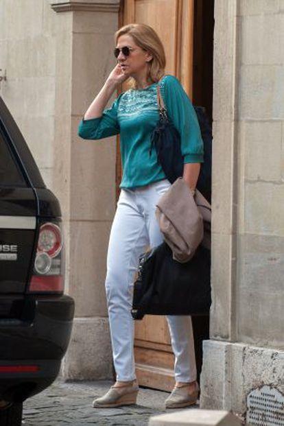 Infanta Cristina, pictured in Geneva last month.