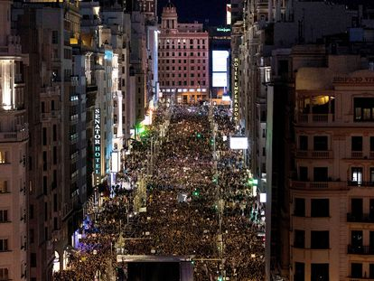 March in Madrid on International Women's Day, March 8.