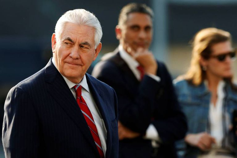 Rex Tillerson arrives in Mexico City.