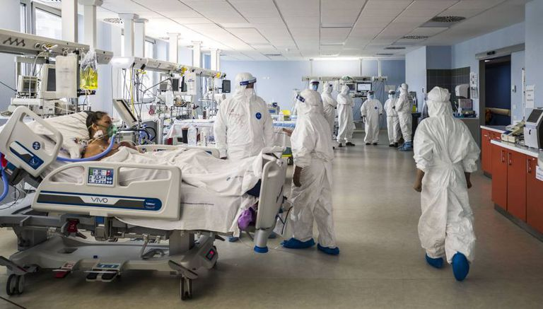 The intensive care unit in the Italian city of Catania on April 23.