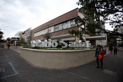 The shopping mall where María Villar took a taxi.