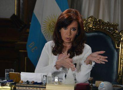 Argentina President Cristina Fernández de Kirchner.