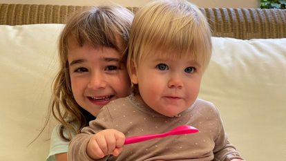 Olivia and Anna, the missing sisters who were kidnapped by their father on April 27 in Tenerife.