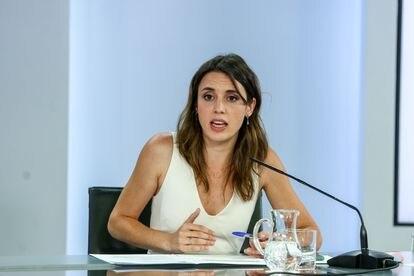 Equality Minister Irene Montero.