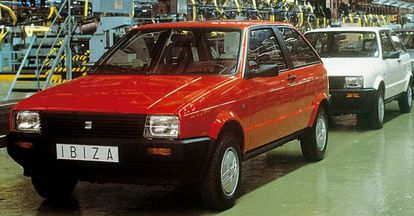 The original Seat Ibiza rolled out of the old factory in Barcelona's Zona Franca in 1984.