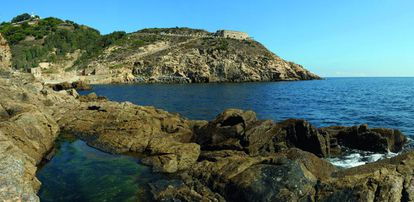 Desnarigado cove in Ceuta, the Spanish city on the northern coast of Africa.
