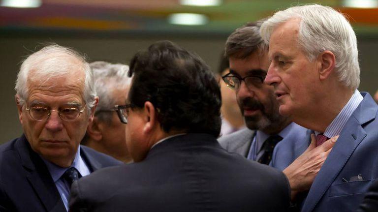 Foreign Minister Josep Borrell and EU negotiator Michel Barnier.