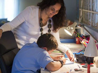 Parents say they spend more and more time helping their children with homework.