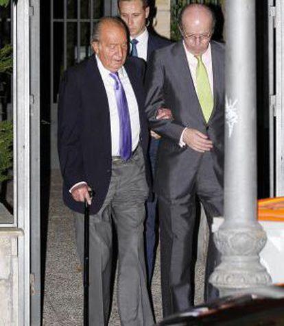 Juan Carlos with his advisor Rafael Spottorno.