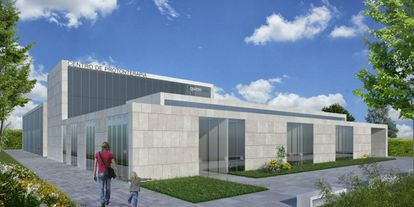 A rendition of what Quirónsalud's proton therapy center will look like.