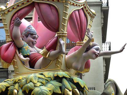 A scene from Valencia's famous Fallas festival.