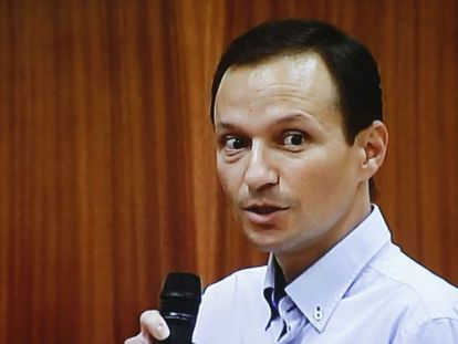 José Bretón giving his final statement in court on Monday.