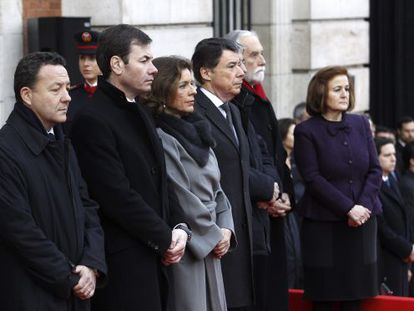 The ceremony to commemorate the March 2004 Madrid train bombings in  Puerta del Sol.