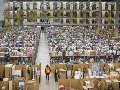 Amazon's logistics center in San Fernando de Henares, outside Madrid.