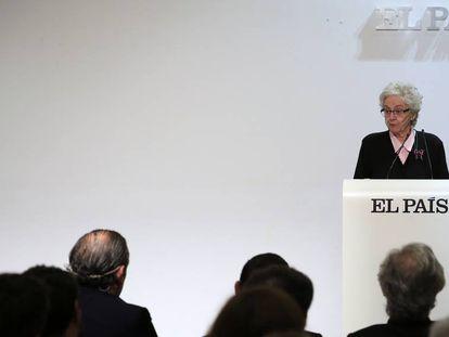 New EL PAÍS editor-in-chief Soledad Gallego-Díaz addresses staff on Friday.