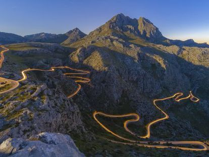 The winding road of Sa Calobra (Mallorca)