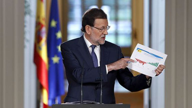 Prime Minister Rajoy during his news conference on Friday.