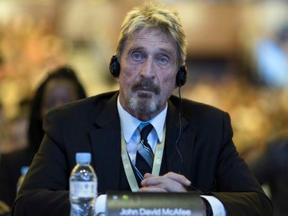 John McAfee in a file photo.