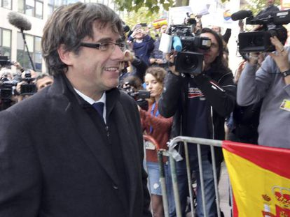 Ex-Catalan premier Carles Puigdemont in Brussels.