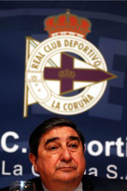 Deportivo's president, Augusto César Lendoiro.