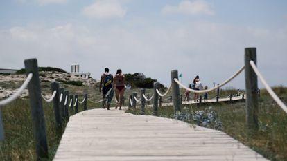Ses Illetes beach in Formentera.