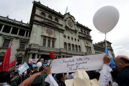A recent anti-government protest in Guatemala City.
