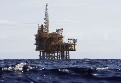 The offshore platform of the European Investment-bank backed Castor gas storage project.