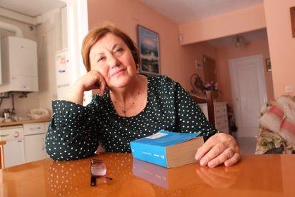 Ena Velasco inside her home in La Ventilla, Madrid.