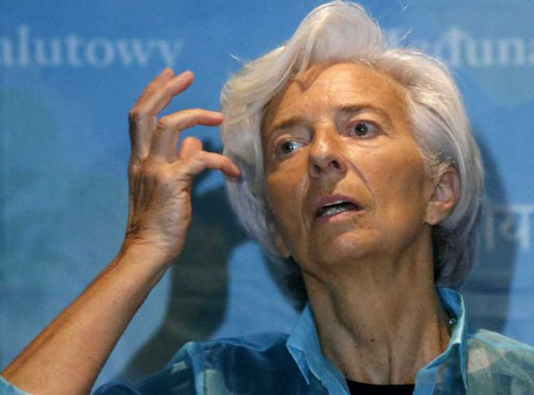 IMF Managing Director Christine Lagarde at a press conference in January.