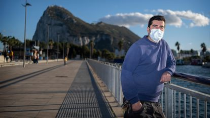 José Antonio Villanueva, a cross-border worker in Gibraltar who will be one of the first Spaniards to be vaccinated against the coronavirus.